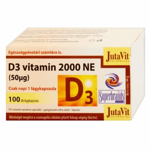 JUTAVIT D3-VITAMIN LÁGYKAPSZULA - 100 DB