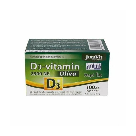 JUTAVIT D3-VITAMIN LÁGYKAPSZULA OLÍVA - 100 DB