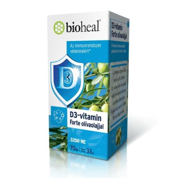 BIOHEAL D3-VITAMIN FORTE OLÍVAOLAJJAL - 70 DB